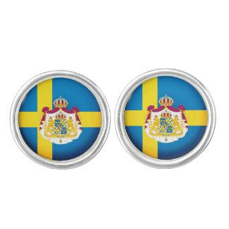 Swedish flag cuff links