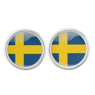 Swedish flag cufflinks
