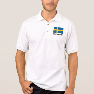 Swedish flag custom polo shirts for men and women