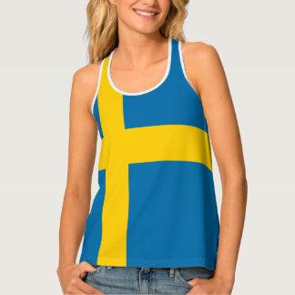 Swedish Flag Designs Tank Top