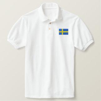 Swedish Flag Embroidered Polo Shirts