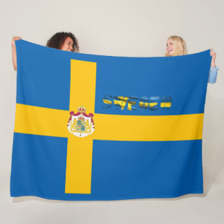 Swedish flag fleece blanket