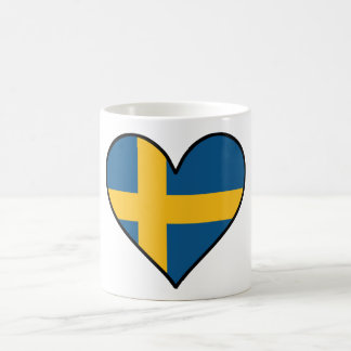 Swedish Flag Heart Coffee Mug