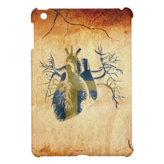 Swedish Flag in Real heart iPad Mini Covers