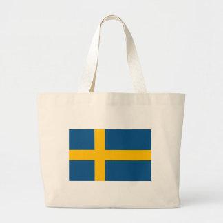 Swedish Flag Jumbo Tote Bag