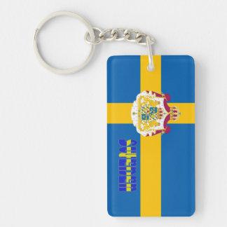 Swedish flag key ring