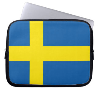 Swedish Flag Laptop Sleeve