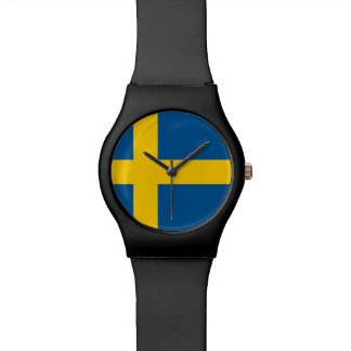 Swedish flag wrist watch