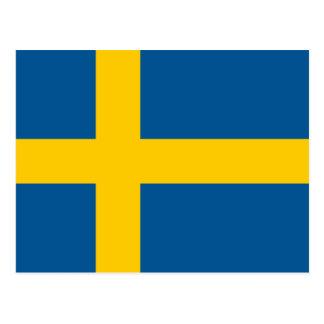 Swedish flag of Sweden custom postcards