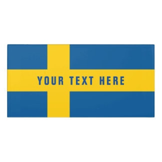 Swedish flag of Sweden Scandinavia pride office Door Sign