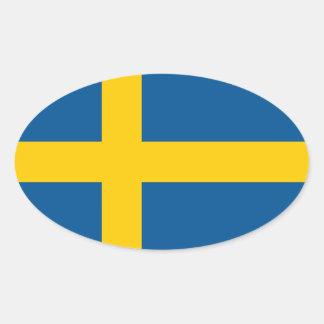 Swedish flag oval car sticker | Flag of Sweden