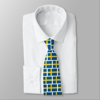 Swedish flag pattern neck tie for Sweden fans