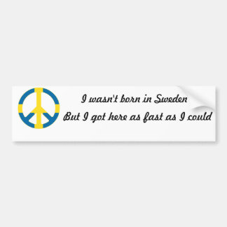 Swedish Flag Peace Symbol Bumper Sticker