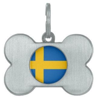 Swedish Flag Pet Name Tag