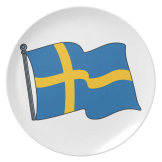 Swedish Flag Party Plate