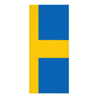 Swedish Flag Personalized Rack Card