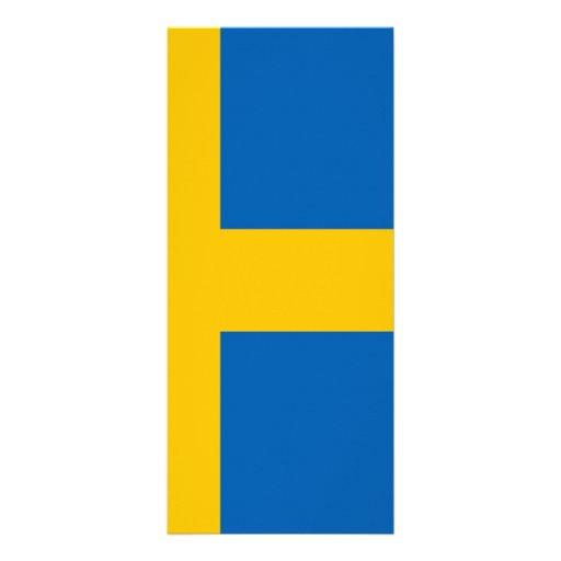 Swedish Flag Personalized Rack Card