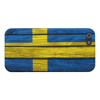Swedish Flag Rustic Wood Case For iPhone 5/5S