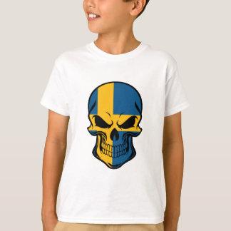 Swedish Flag Skull T-Shirt