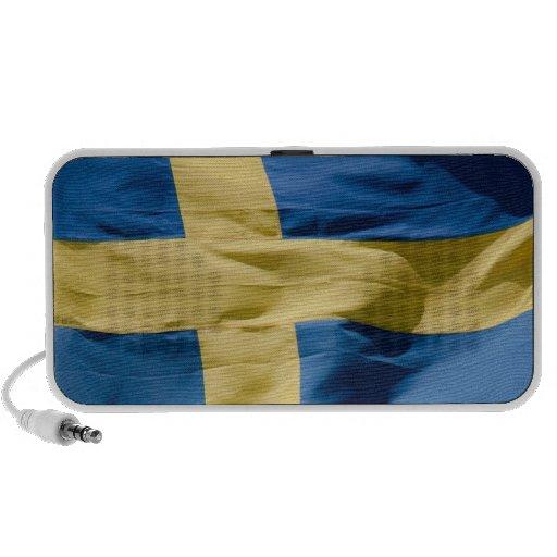 Swedish flag travelling speakers