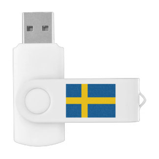 Swedish flag swivel USB flash drive