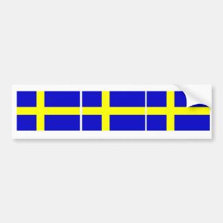 Swedish Flag Trio Bumper Sticker