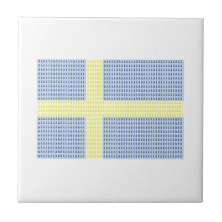 Swedish Flag w å + filler - Tile S