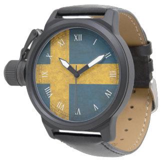 Swedish flag watch