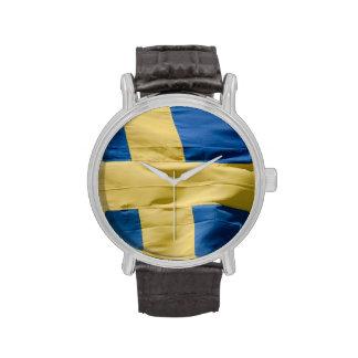 Swedish flag watches