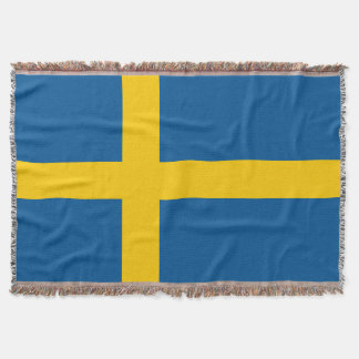 Swedish flag woven throw blanket | Sweden pride