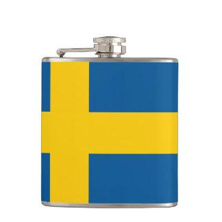 Swedish flag Wrapped Flask