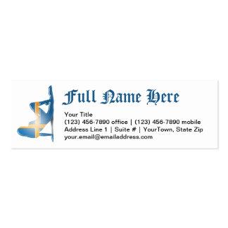 Swedish Girl Silhouette Flag Business Card