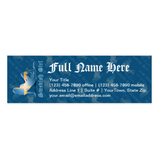 Swedish Girl Silhouette Flag Business Card Template