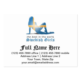 Swedish Girl Silhouette Flag Pack Of Chubby Business Cards