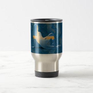 Swedish Girl Silhouette Flag Stainless Steel Travel Mug