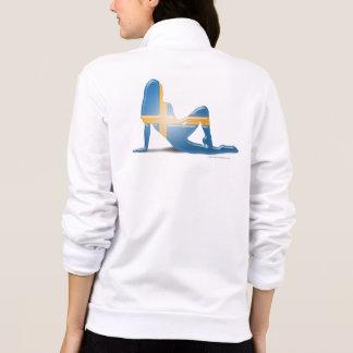 Swedish Girl Silhouette Flag Printed Jacket