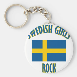 Swedish girls rock DESIGNS Basic Round Button Key Ring
