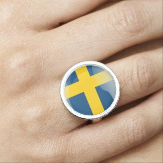 Swedish glossy flag