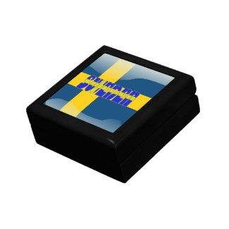 Swedish glossy flag gift box