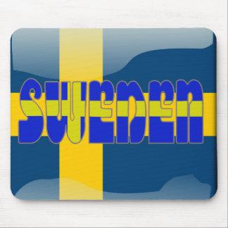 Swedish glossy flag mouse pad