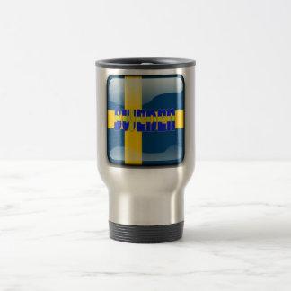 Swedish glossy flag travel mug