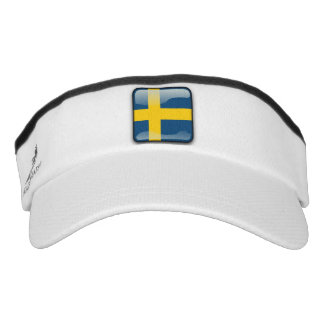 Swedish glossy flag visor