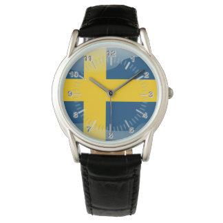 Swedish glossy flag wristwatches