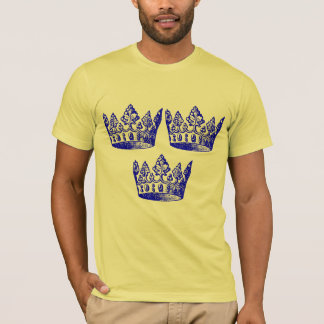 Swedish Hockey Crown Remix Art T-Shirt