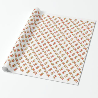 Swedish Jul Bok Traditional Scandinavian Folk Art Wrapping Paper