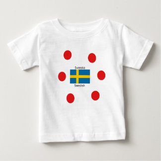 Swedish Language (Svenska) And Sweden Flag Design Baby T-Shirt