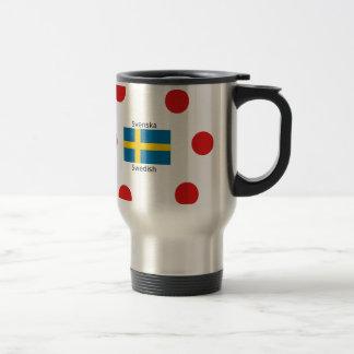 Swedish Language (Svenska) And Sweden Flag Design Travel Mug