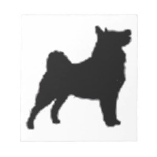 swedish lapphund silhouette notepad