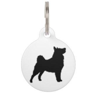 swedish lapphund silhouette pet ID tag