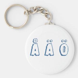 Swedish letters (å ä ö) basic round button key ring